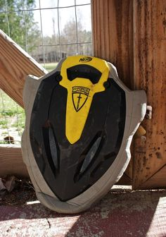 NERF Shield STONEWALL N Force Black Yellow Live Action Role Play Cosplay Foam #Hasbro