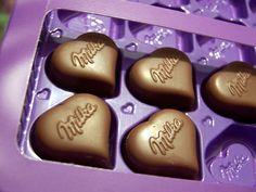 ~ #chocolate #milka #hearts