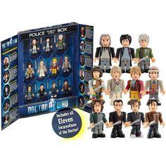 Doctor Who Character Building, The 11 Doctors Micro-Figure Set - Walmart