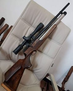 Here is a rifle. In the army cadet program, we also gain access to air rifles. This is a fun activity that I enjoy Air Rifle Hunting, Hunting Guns, Tactical Watch, Dremel Wood Carving, Rifle Stock, Advanced Warfare, Airsoft Guns, Guns And Ammo, Firearms