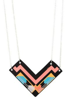 miss wax, chevron stacked necklace from metropark