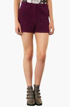 Love the plum color! Topshop Lace Shorts