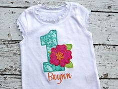 Luau First Birthday Personalized Shirt or by TheStripedSwallow, $47.00