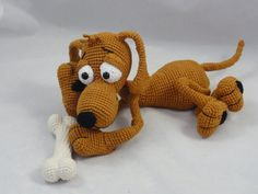 Doug the Dog Amigurumi Crochet Pattern por IlDikko en Etsy