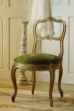 アンティーク チェアー(ルイ15世様式)C French Antique Chair LOUIS XV Style