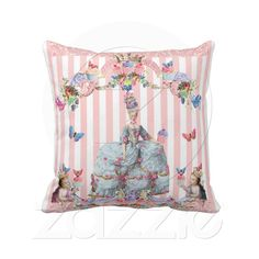 This lovely design shows off Marie Antoinette in her powder blue gown embellished with pink roses and her head is topped with a yummy cake! This design is full of soft and romantic colors. You will see beautiful vintage scroll work dripping with cupcakes, fruit and berries. This design is very whimsical and yummy! Let Marie Antoinette show off your style!