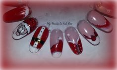 Nail art Natalizie semplici in gel (o smalti) - tutoria Xmas nails
