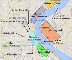 map of bordeaux France Plan Bordeaux, Visit Bordeaux, Europe Travel Tips, Travel Abroad, Travel Guides, Paris Travel, France Travel, Toulouse, Lyon