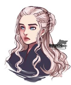 [Game of Thrones] Daenerys by AquaLeonhart on DeviantArt Game Of Thrones Drawings, Dessin Game Of Thrones, Got Game Of Thrones, Game Of Thrones Cartoon, Daenerys Targaryen Art, Game Of Throne Daenerys, Khaleesi, Character Drawing, Character Design