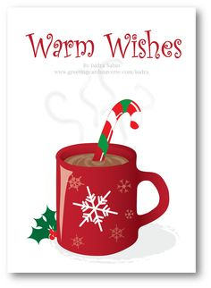 29 best afro latin christmas cards collection images on pinterest in christmas warm wishes hot chocolate and candy cane card m4hsunfo