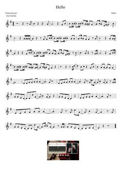 Hello - Adele - Partitura para flauta                              … Saxophone Sheet Music, Violin Music, Bass Guitar Chords, Karaoke, Guitar Classes, Music Score, Actress Christina, Music Notes, Music Bands