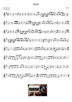 Hello - Adele - Partitura para flauta                              …