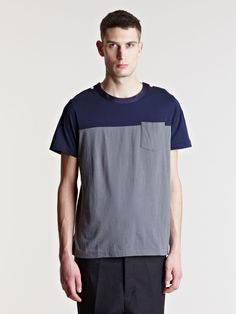 Sacai Men's Contrast Panel T-shirt
