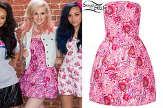 Perrie Edwards: Pink Floral Print Dress | Steal Her Style