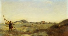 Oil Paintings of 4 Dunkerque plein air landscape Romanticism Jean Baptiste Camille Corot Art for sale by Artists Cultura General, Jean Baptiste, Wall Decor Pictures, Portraits From Photos, European Paintings, Camille, Art Database, Paintings For Sale, Oil Paintings