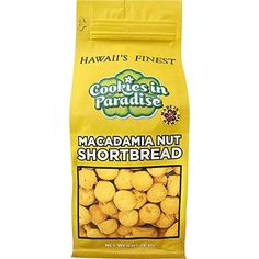Cookies in Paradise Macadamia Nut Shortbread Cookies 26 oz. Hawaiian Cookies, Shortbread Cookies, Bite Size, Paradise, Yearning, Amazon, Friends, Sweet, Easy