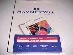 Hammermill Proposals and Presentations Matte Bond 1 Sided Ink Jet 100 Sheets New #Hammermill
