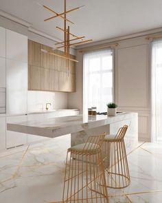 Gorgeous neutral kitchen.