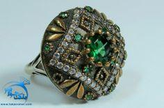 انگشتر طرح زمرد دایره ای کار شده عثماني Accessories, Ornament