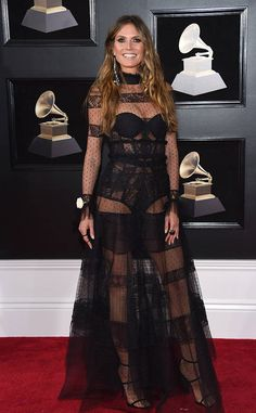 Heidi Klum from 2018 Grammys Red Carpet Fashion | E! News