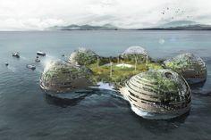 Carbonic Island, le projet d'Adam Fernandez, a reçu le prix coup de cœur du concours organisé par la fondation Jacques Rougerie.