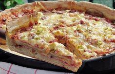 Vysoká pizza Chicago. Mňamka!