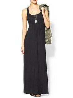 Calvin Klein Cross Back Maxi Dress via Piperlime: This one would be great postpartum as you return to your pre-pregnancy size.