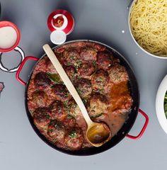 Italian meat balls/Italialaiset uunilihapullat