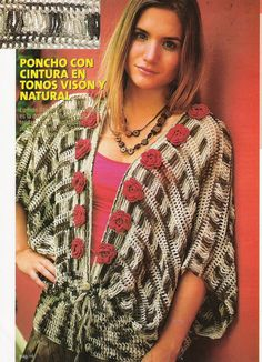 Incl pattern - needs translation, but also has diagrams. Edivana Croche: Ponchos