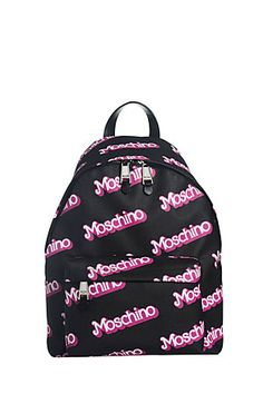 Straight+off+the+runway!+Add+a+covetable+finish+to+fashion-forward+fall+looks+with+this+logo-laden,+Barbie-inspired+backpack+from+Moschino+#Stylebop