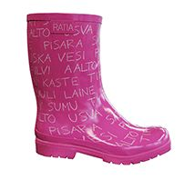 Ratia Rubber boots, pink/white