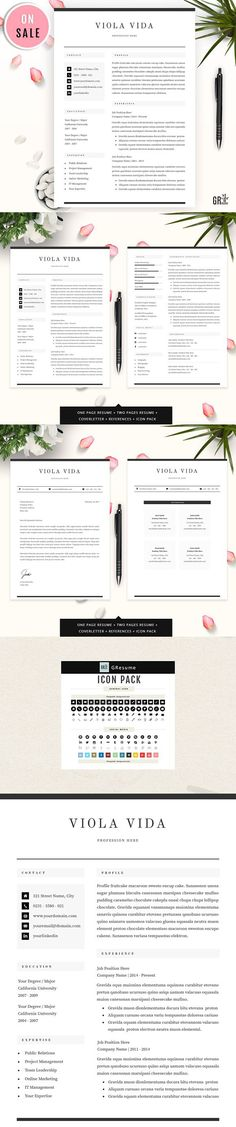 This Professional resume template is designed to stand out from - professional resume word template