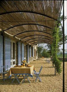 canisse pergola en métal et tonnelle de jardin et terrasse