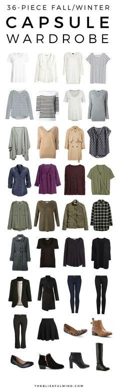 36-Piece Fall Winter Capsule Wardrobe