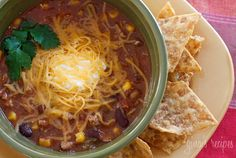 Turkey Chili Taco Soup - This soup is a super easy to make and is ready in less than 20 minutes.
