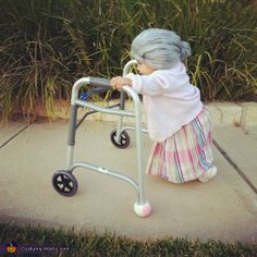 Little Old Lady Halloween Costume...lol. this is great!