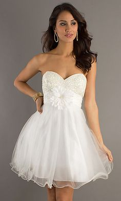 Dave and Johnny Strapless Babydoll $160