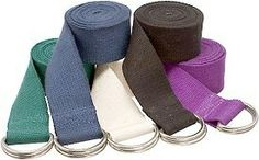 Our 6' Cotton Yoga Strap with D-Ring Buckle is the standard size yoga strap which will suit the needs of most yogis. Our straps are made from durable 100% cotton and come in 5 versatile color options. The D-ring buckle on the end will keep your strap in place and is easy to adjust while holding a pose -- plus it will never bend or break off. Incorporating a yoga belt into your practice will help you stretch deeper into your pose and also will help ensure correct alignment.