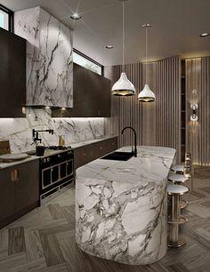 Kitchen Design Open, Luxury Kitchen Design, Luxury Interior Design, Modern House Design, Interior Design Inspiration, Luxury Kitchens, Open Kitchen, Kitchen Designs, Luxury Home Decor