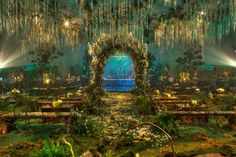 Breaking Dawn Wedding Scene re-make for movie opening party Event Themes, Wedding Themes, Wedding Decorations, Wedding Ideas, Twilight Wedding Scene, Breaking Dawn Wedding, Garden Wedding, Dream Wedding, Enchanted Forest Wedding