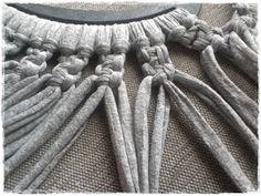 Tutorial bolso de trapillo a macramé - El taller de Natipatch Merino Wool Blanket, Crochet, Crafts, Small Things, Deco, Shirt, Blog, Scrappy Quilts, Bags