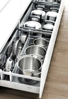 Live idea for pots and pans. Maybe for bowls and storage containers? Live idea for pots and pans. Maybe for bowls and storage containers? The post Live idea for pots and pans. Maybe for bowls and storage containers? appeared first on Schrank ideen.