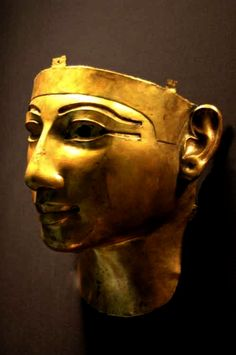Gold funerary mask of Shoshenq II, reign 887-885 BC, 22nd dynasty, Cairo Museum