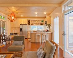 Warm Modern Small Kitchen Interiors