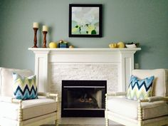 Abby M. Interiors: Swanky Colonial Project family room