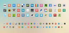 41 social media icons, it makes dizzy