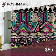 Boho shower curtain I have this exact shower curtain and it's in perfect condition, no tears or stains. The pattern is the exact same. Very bright and vibrant! I'm moving so I no longer need it since I'm changing my themes. NOT FROM VS PINK Victoria's Secret Other
