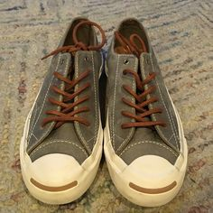 Jack Purcell converse Jack Purcell converse. Cork sole in the inside which makes the sneaker comfortable to wear. Brush suede. Worn once. No permanent stains around the sneaker. This sneaker is unisex. Negotiable Converse Shoes Sneakers
