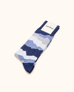 Seismic Socks in Blue Night
