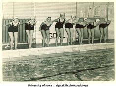 Swimmers, University of Iowa, 1938 | University of Iowa Physical Education for Women | Iowa Digital Library